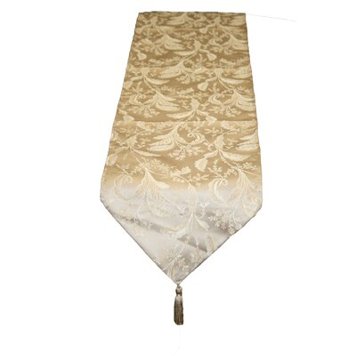 Violet Linen Luxury Damask Design Table Runner