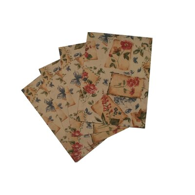 Violet Linen European Garden Design Placemat (Set of 4)