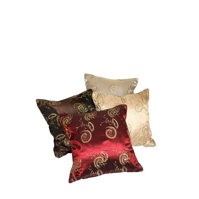 Violet Linen Silky Indiana Embroidered Sequins Decorative Throw Pillow