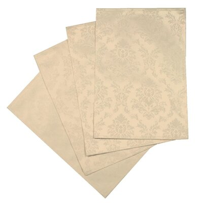 Violet Linen European Damask Design Placemat (Set of 4)