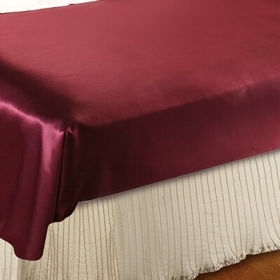 Violet Linen Mini Pleats Luxurious Bed Ruffle