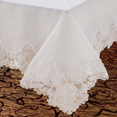 Imperial Embroidered Vintage Lace Design Tablecloth