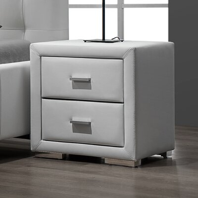DG Casa Riviera 2 Drawer Nightstand