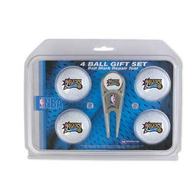 McArthur Towels NBA Divot Tool and 4 Golf Ball Gift Set