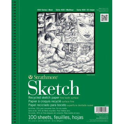 Strathmore 400 Series Wire Bound Recycled Sketch Pads