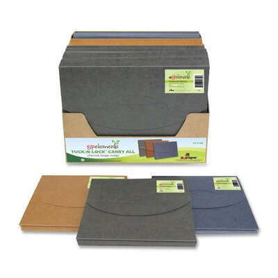 S J Paper Tuck-N-Lock Carry All File