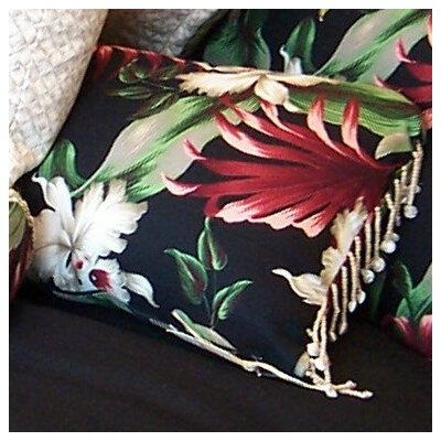 Hanalei Home Orchids Cotton Pillow