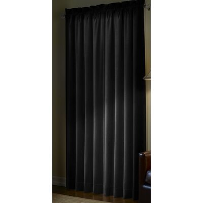 Maytex Velvet Cotton Rod Pocket  Curtain Single Panel