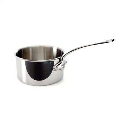 Mauviel M'cook Stainless Steel Saucepan with Lid