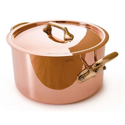 Mauviel M'heritage Cuprinox Stock Pot with Lid