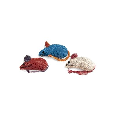 Burlap Mice Cat Toy (3 Pack)