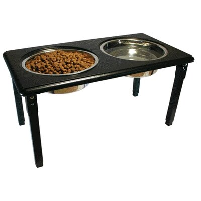 Ethical Pet Posture Pro Adjustable Double Pet Diner in Black