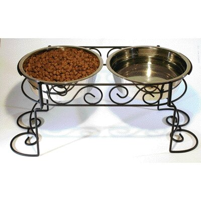 Ethical Pet Stainless Steel Scroll Work Double Diner