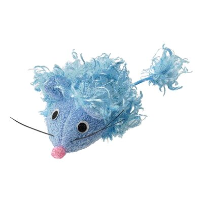 Curly Plush Mouse with Catnip Cat Toy