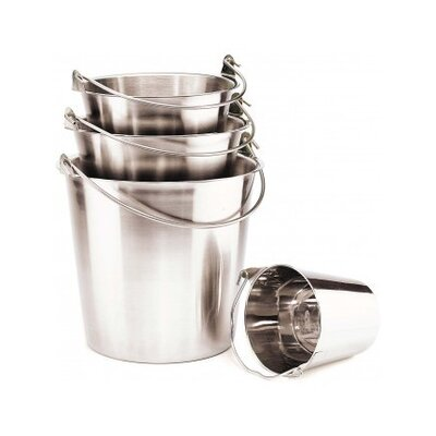 Ethical Pet Pail with Handle in Stainless Steel