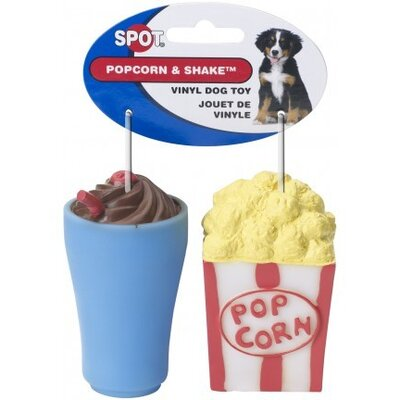 Ethical Pet Popcorn and Shake Vinyl Dog Toy - 2 Pack