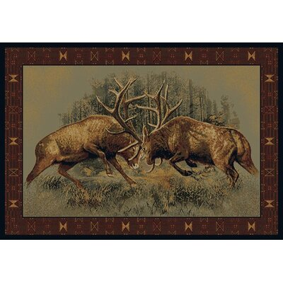 Buckwear Buckwear Fight For Dominance Lodge Novelty Rug