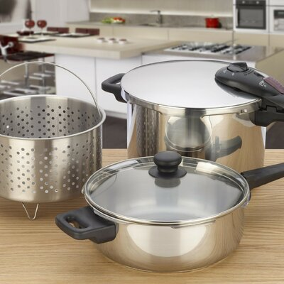 Fagor Splendid 5 Piece Stainless Steel 2-in-1 Multi-Pressure Cooker Set