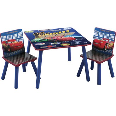 Delta Children's Products Disney Pixar's Cars Kids' 3 Piece Table and Chair Set
