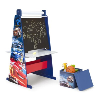 Delta Children Disney Pixar Cars Easel Desk with Ottoman