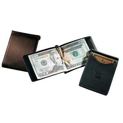 Andrew Philips Florentine Napa Single Money Clip with Outside Pocket