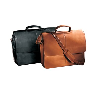 Andrew Philips Vaqueta Napa Laptop Flapover Briefcase