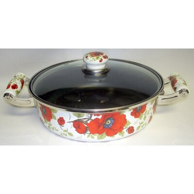 Enamel Kitchenware Skillet with Lid