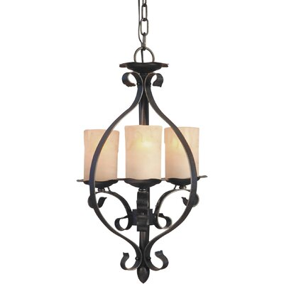 Forte Lighting 3 Light Foyer Pendant