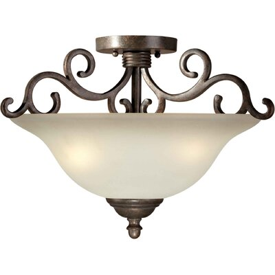 Forte Lighting Semi Flush Mount