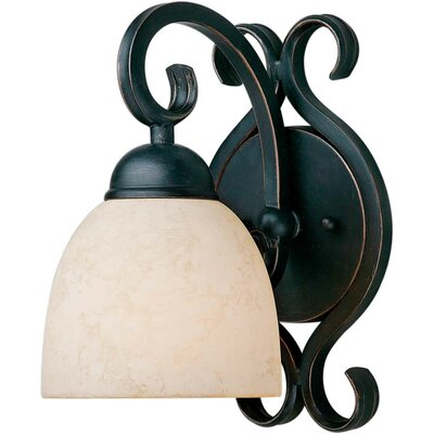 Forte Lighting One Light Wall Sconce in Bordeaux