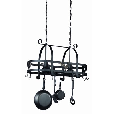 Artcraft Lighting Pot Racks Hanging Kitchen Island with 2 Light Pendant