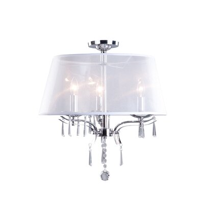 Artcraft Lighting Roxborough 3 Light Semi Flush Mount