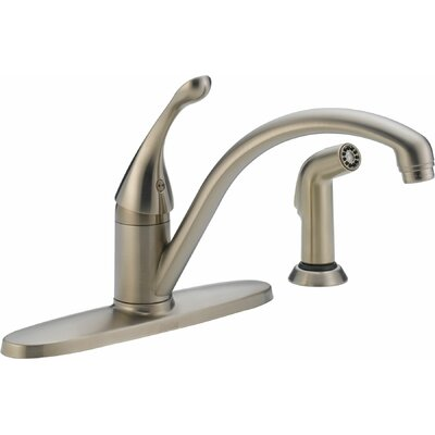 Delta Collins Single Handle Centerset Arched Kitchen Faucet with Spray