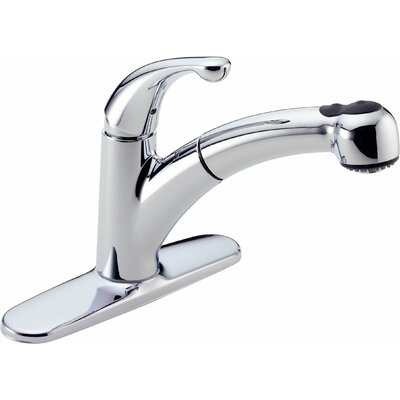 Palo TouchClean Technology Pull Out Single Handle Centerset Kitchen Faucet
