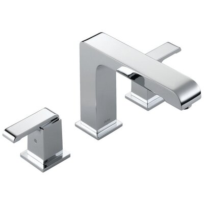 Delta Arzo Double Handle Deck Mount Non-Diverter Roman Tub Faucet