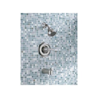 Delta Classic Thermostatic Tub and Shower Faucet Trim in Stainless Steel