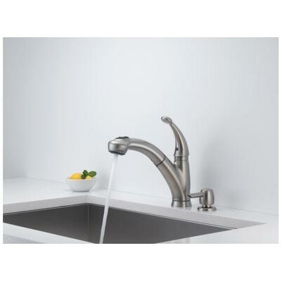 Cicero Single Handle Centerset Pull Out Kitchen Faucet with Soap Dispenser