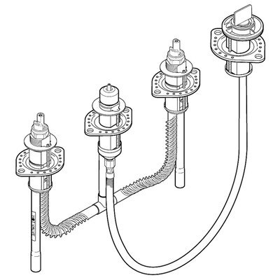 Delta 4-Hole Roman Tub Valve Rough-In Kit