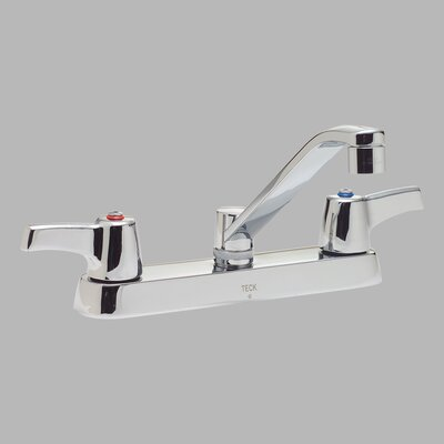 "Delta 8"" Deck Double Handle Centerset Kitchen Faucets with Mixing Handles"