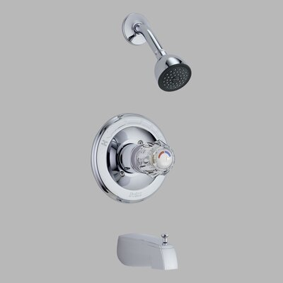 Delta Classic Monitor 13 Series Tub and Shower Trim in Chrome