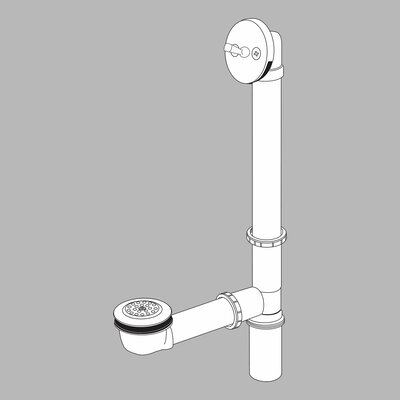 Delta Bath Waste Assembly with Trip Lever Drain