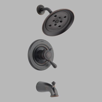 Delta H2Okinetic Leland Diverter Tub and Shower Faucet Trim