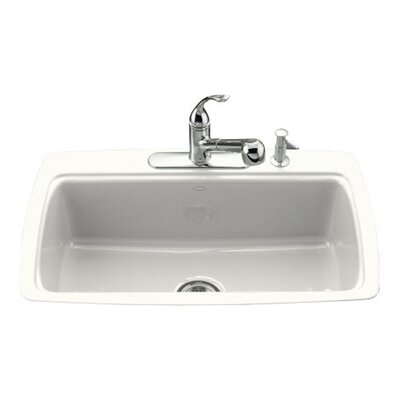 Kohler Cape Dory Tile-In Kitchen Sink in White