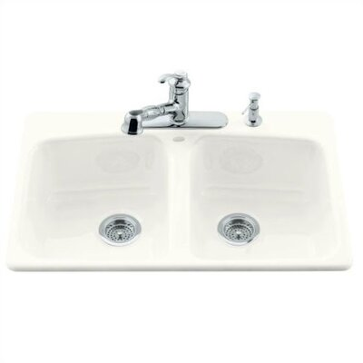 "Kohler Brookfield 33"" x 22"" Self Rimming Kitchen Sink"