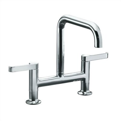 Kohler Torq Deck Mount Kit Double Handle Widespread Bridge Faucet