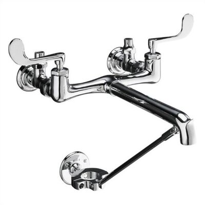 Kohler Triton Garage Faucet with Loose Key Stops, Spout Outlet and Double Lever Handle