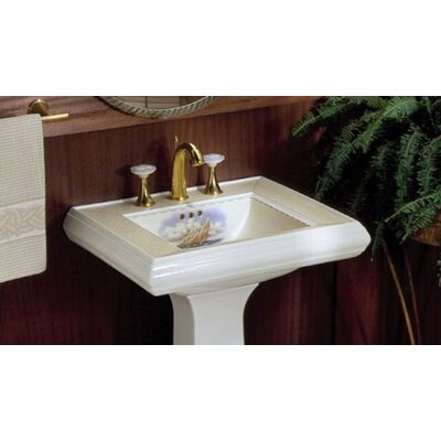 Close Reach Pedestal Bathroom Sink Set - K-14227-SB-96, 14228-SB-96, 14229-SB-96
