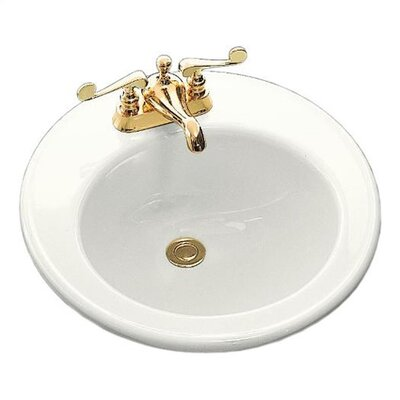 Kohler Brookline Self-Rimming Bathroom Sink with Left-Hand Soap/Lotion Dispenser Hole Drilling