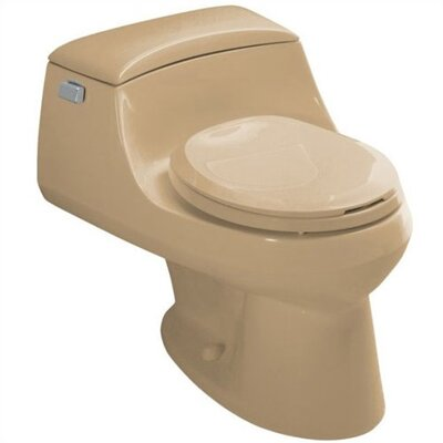 Kohler San Raphael One-Piece Round-Front 1.6 Gpf Toilet with Ingenium Flush Technology, Left-Hand Trip Lever, Concealed Trapway and French Curve Toilet Seat