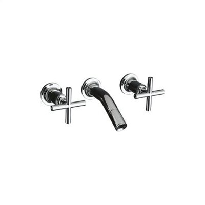 Kohler Purist Laminar Wall Mounted Bathroom Faucet with Double Cross Handles